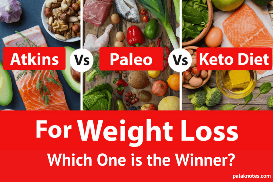Dark Sides of Atkins Vs Paleo Vs Keto Diet : Who is The WINNER?
