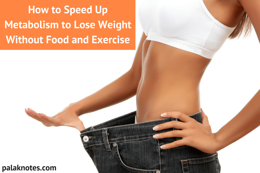 How to Speed Up Metabolism to Lose Weight (Without) Food and Exercise